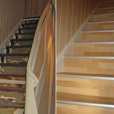 Treppenrenovierung mit Laminat Köln.Möbelbau nach Maß