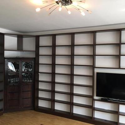 Wohnzimmer Regal mit Tv Wand kombieniert in Köln Möbelbau nach Maß