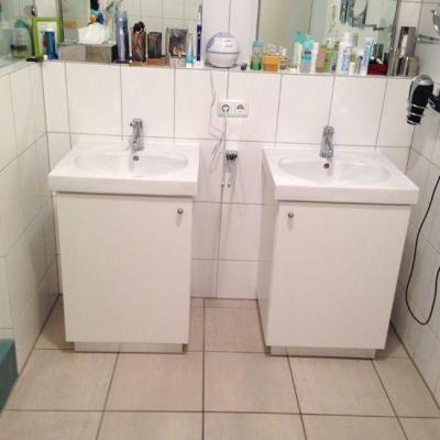 Waschtisch Unterschränke in Köln-Frechen. Möbelbau nach Maß