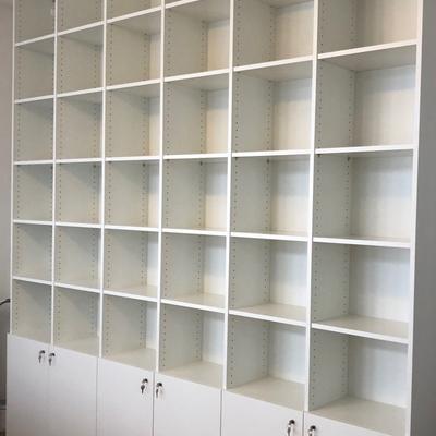 Büro Regal mit Türen Raumhoch 350cm